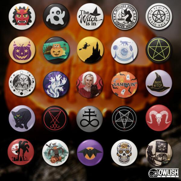Halloween Theme Badges Poduct Image